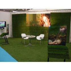 Искусственная трава для выставки недорого